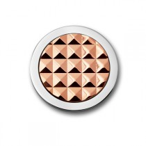 3D Stud Rose Gold Plated