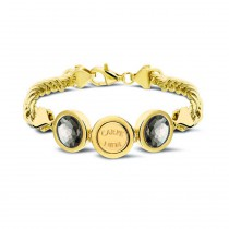 Bracelet Cambio Robusto 925 Sliver Gold Plated